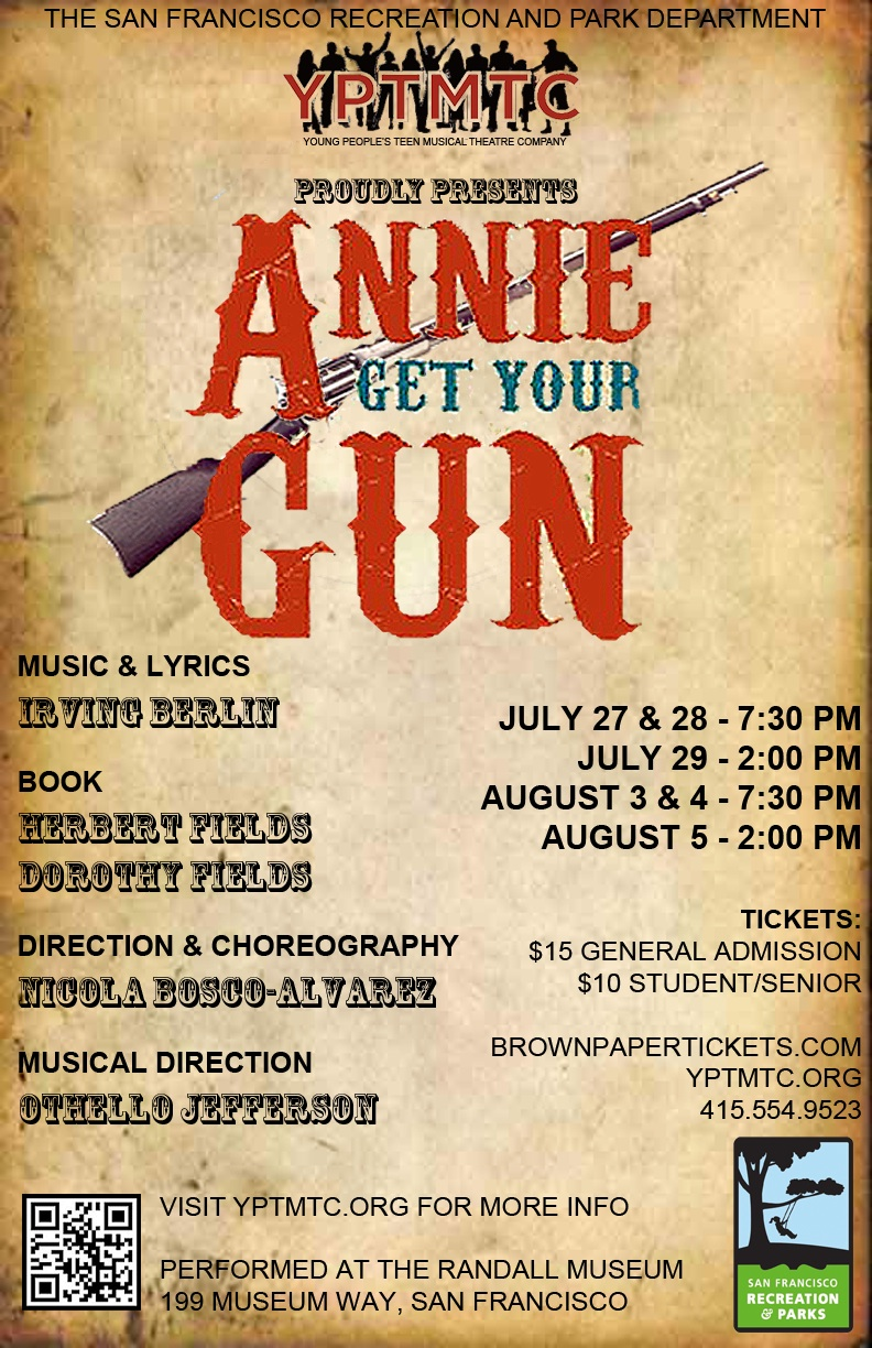 "Tickets available now for ""ANNIE GET YOUR GUN!"""