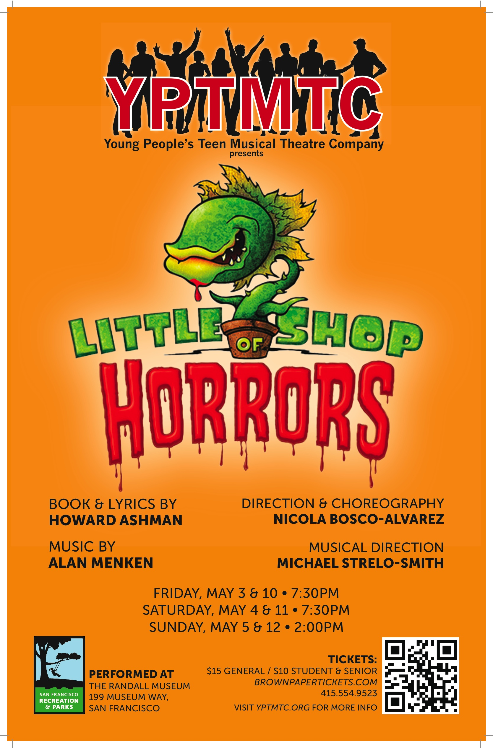 """LITTLE SHOP OF HORRORS""  - MAY 3-5 & 10-12 at the Randall Museum"