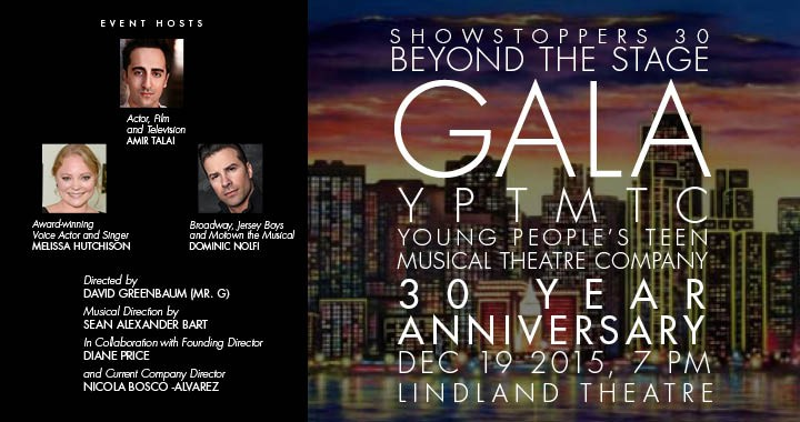 Showstoppers 30, Beyond the Stage, Gala: 12/19